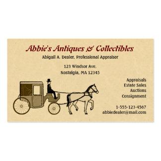 Caballo y carro antiguos tarjetas de visita