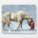 Caballo y chica Mousepad