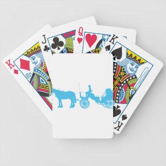 Caballo y cochecillo cartas de juego
