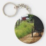 Caballo y cochecillo de Amish Llavero Redondo Tipo Pin