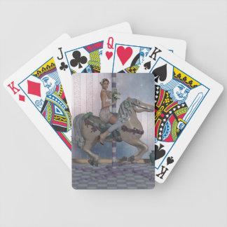 Caballo y duende del carrusel baraja de cartas
