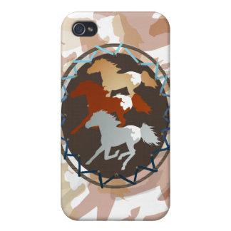 Caballo y escudo iPhone 4 carcasas
