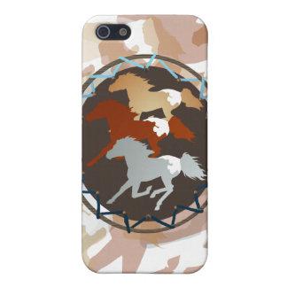 Caballo y escudo iPhone 5 fundas