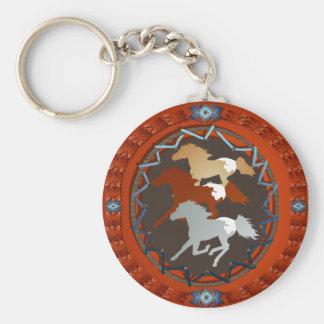 Caballo y Escudo-Llavero Llavero Redondo Tipo Pin