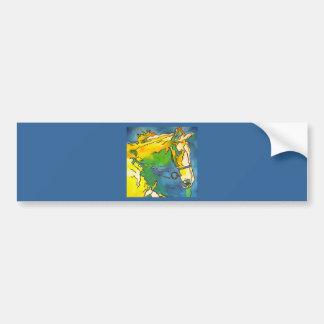 Caballo y freno etiqueta de parachoque