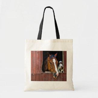 Caballo y gato bolsa tela barata