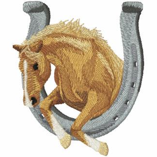Caballo y herradura sudadera bordada con capucha