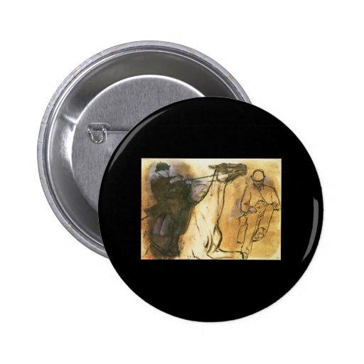 Caballo y jinete de Edgar Degas Pin Redondo 5 Cm