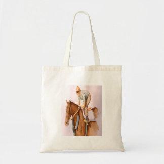 Caballo y jinete de raza bolsas