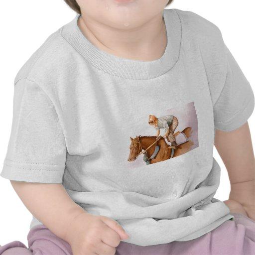 Caballo y jinete de raza camisetas