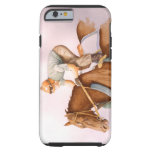 Caballo y jinete de raza funda de iPhone 6 tough