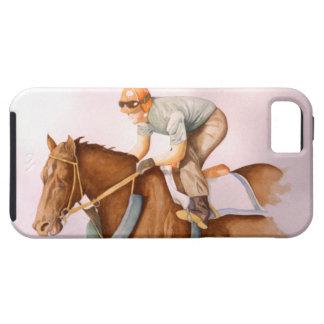 Caballo y jinete de raza iPhone 5 carcasa