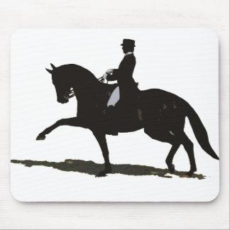 Caballo y jinete del Dressage Alfombrillas De Raton