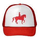 Caballo y jinete del Dressage de Piaffe (red) Gorro De Camionero
