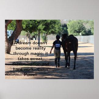 caballo y jinete eventing impresiones