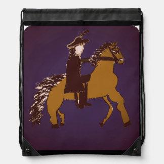 caballo y jinete mochila