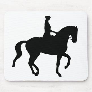 Caballo y jinete (negro) del Dressage de Piaffe Alfombrillas De Raton