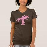 Caballo y jinete (rosa) del puente del cazador camiseta