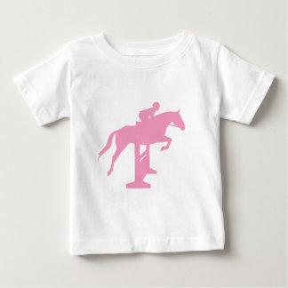 Caballo y jinete (rosa) del puente del cazador playera para bebé