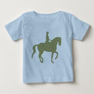 Caballo y jinete (verde salvia) del Dressage de Playera Para Bebé