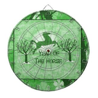 Caballo y luna verdes tablero de dardos