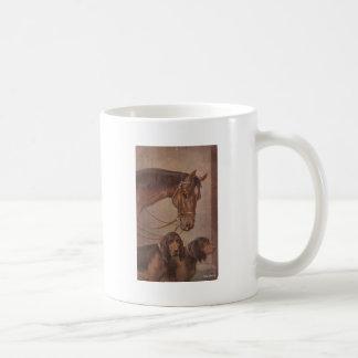 Caballo y perros tazas