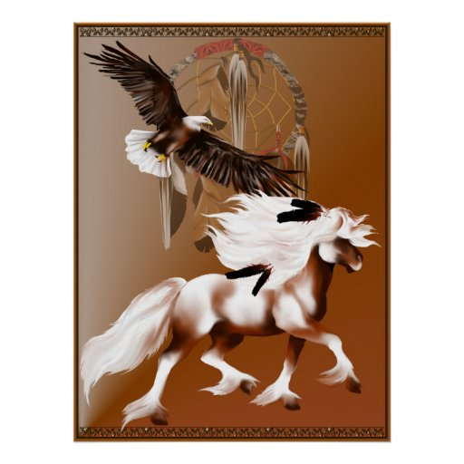 Caballo y poster de Eagle