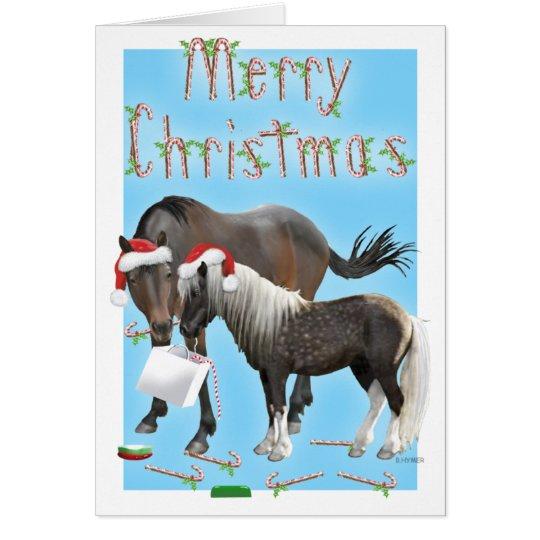 Caballo y tarjeta de Navidad de Cisco