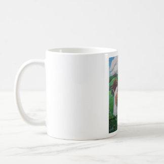 Caballo y Van románticos tradicionales Mug Tazas De Café