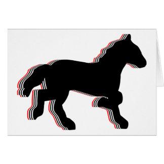 caballos apilados tarjeta pequeña