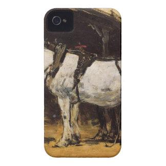 Caballos aprovechados de Eugene Boudin iPhone 4 Coberturas