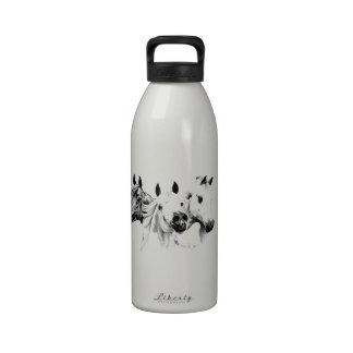 Caballos árabes botella de agua reutilizable