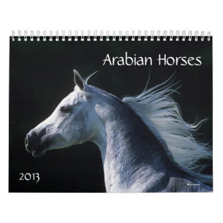 Caballos árabes calendarios de pared