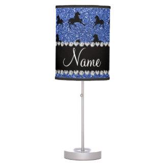 Caballos azules conocidos personalizados del lámpara de escritorio