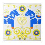 Caballos azules de Dala Azulejos Cerámicos