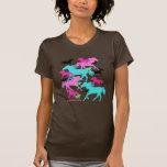 Caballos brillantes camiseta