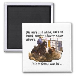 Caballos - caballos de la vaca imán cuadrado