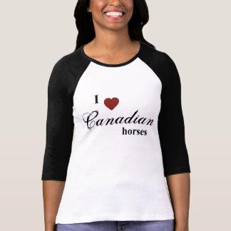 Caballos canadienses camiseta
