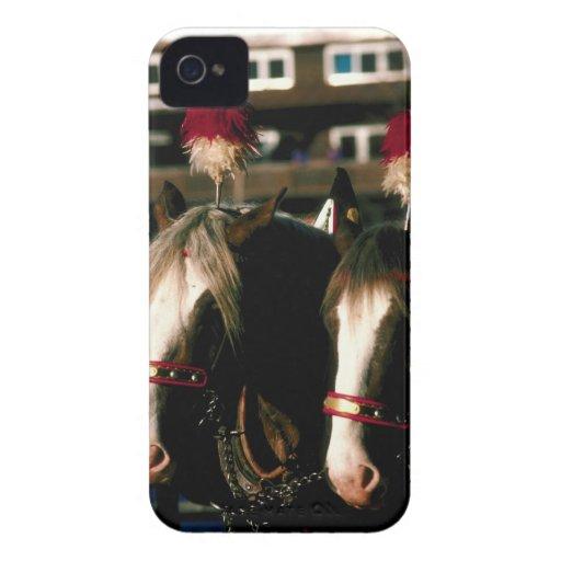 Caballos con los tocados Case-Mate iPhone 4 carcasa