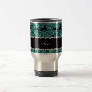 Caballos conocidos personalizados del brillo de la taza de café