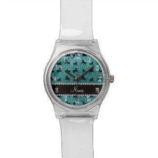 Caballos conocidos personalizados del brillo de la reloj de mano