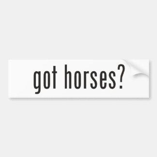 ¿caballos conseguidos? etiqueta de parachoque