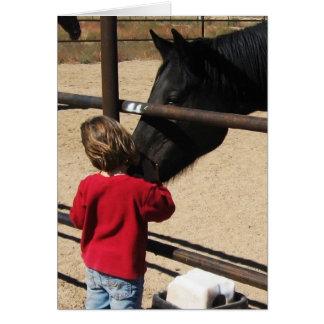 Caballos contra tiranizar - Parenting del vaquero Tarjeta De Felicitación