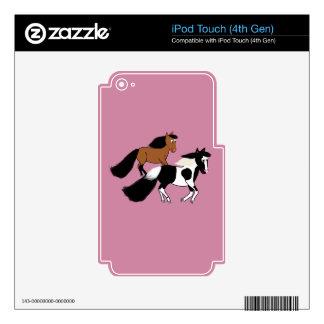 Caballos corrientes calcomanías para iPod touch 4G
