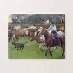 Caballos, Cowhorses - rodeo del ganado Puzzles