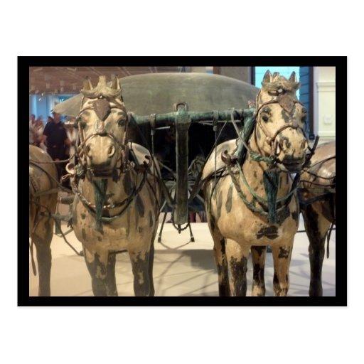 caballos de bronce de Xi'an Postales