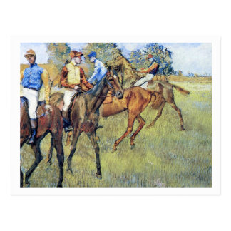 Caballos de carreras de Edgar Degas Tarjetas Postales