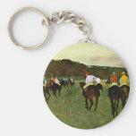 Caballos de carreras en Longchamp de Edgar Degas Llavero