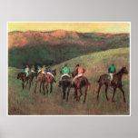 Caballos de carreras en un paisaje, 1894, Edgar De Posters