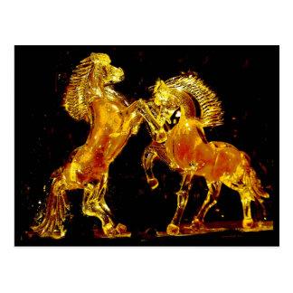 Caballos de cristal de Murano Italia Tarjetas Postales